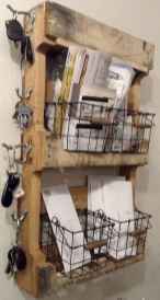 Rustic key holder organized ideas (44)