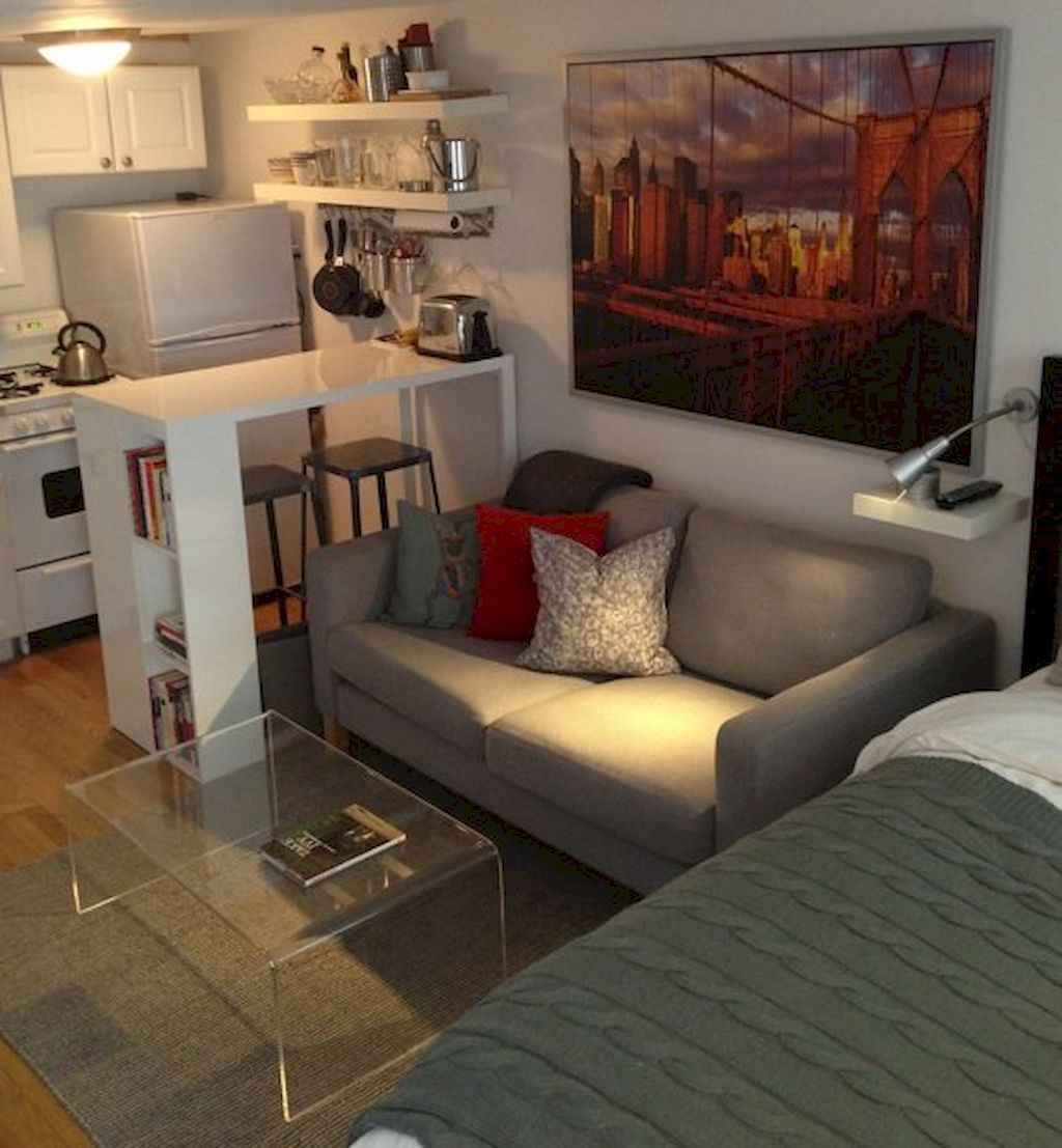 Small apartment studio decorating ideas on a budget (85)