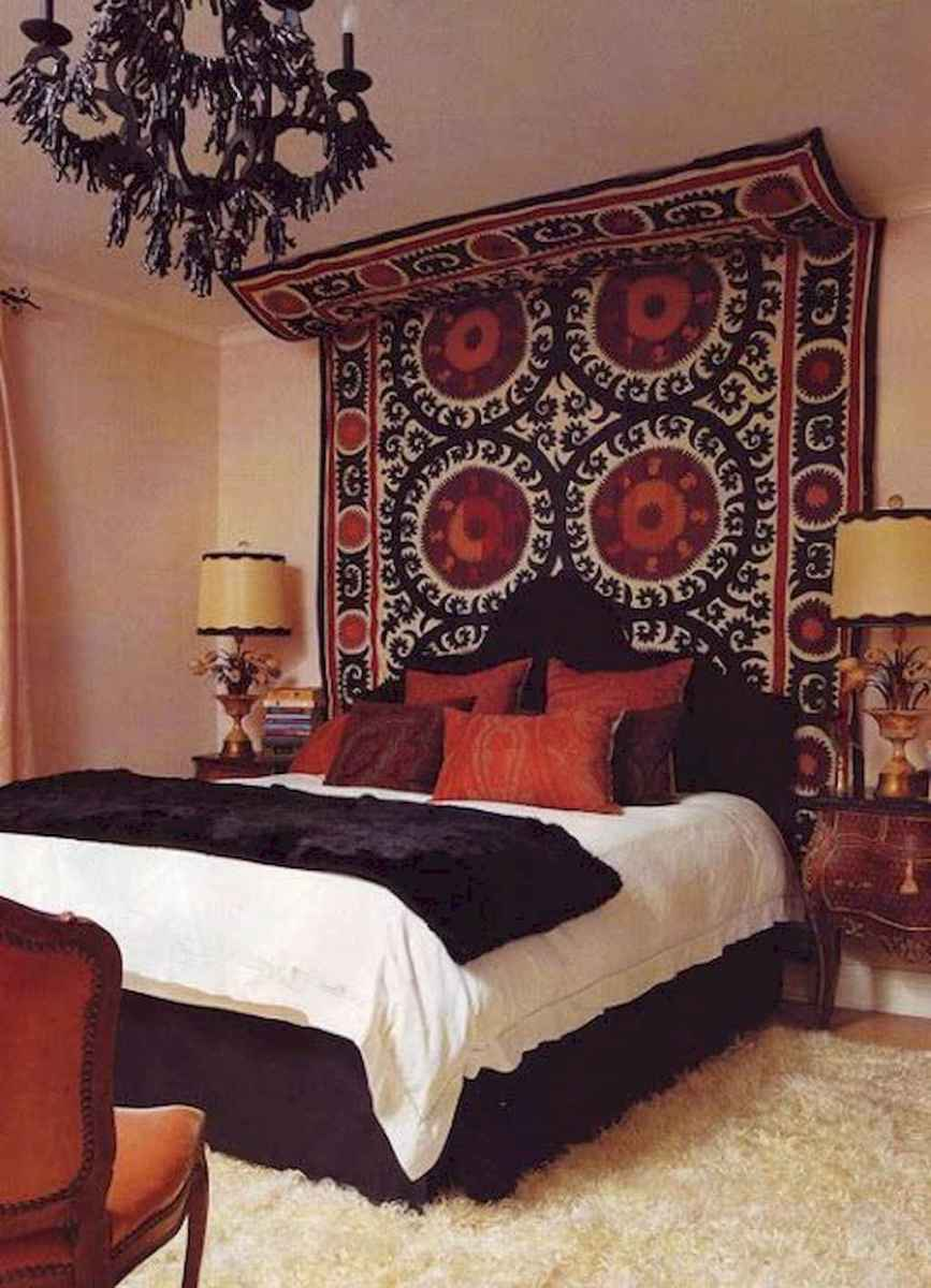 Bohemian style modern bedroom ideas (43)
