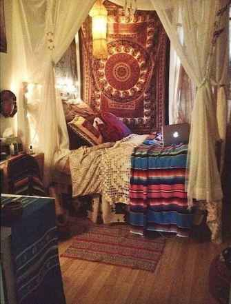 Bohemian style modern bedroom ideas (61)