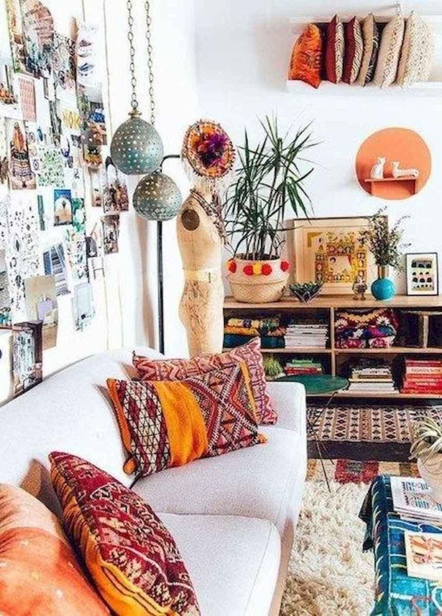 Bohemian style modern bedroom ideas (80)