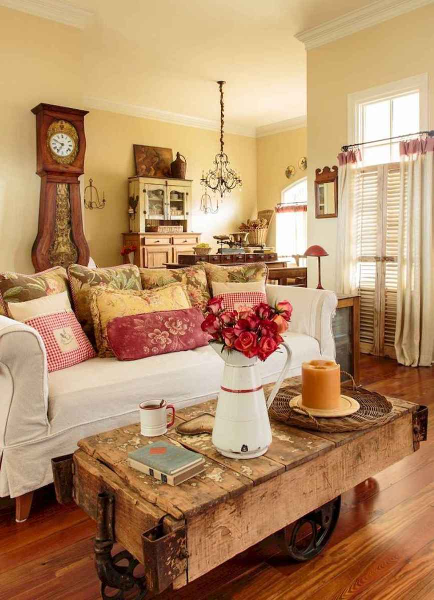 Fancy french country living room decor ideas (25)