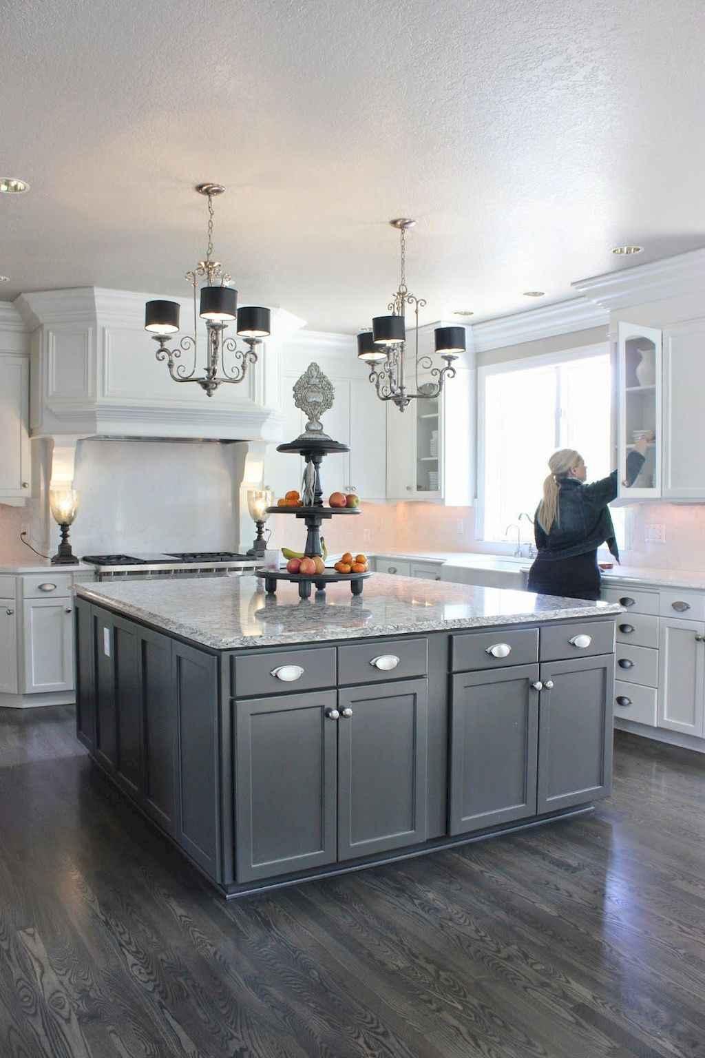 Gorgeous gray kitchen cabinet makeover ideas (13)