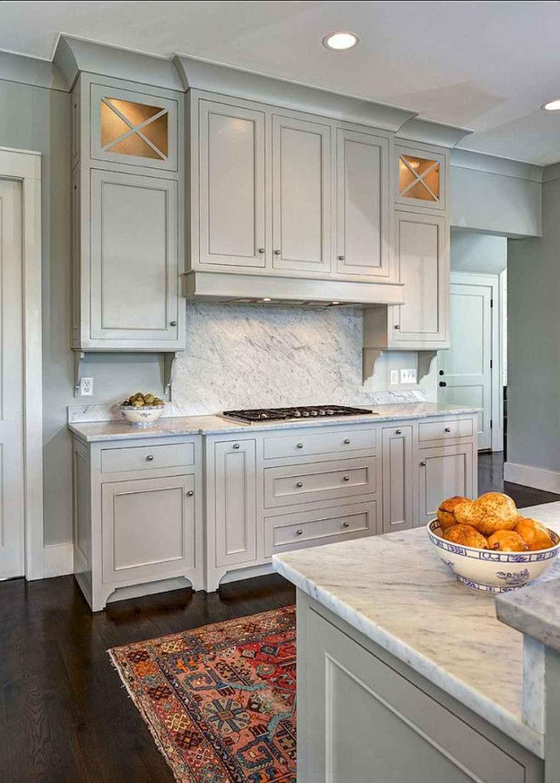 Gorgeous gray kitchen cabinet makeover ideas (24)