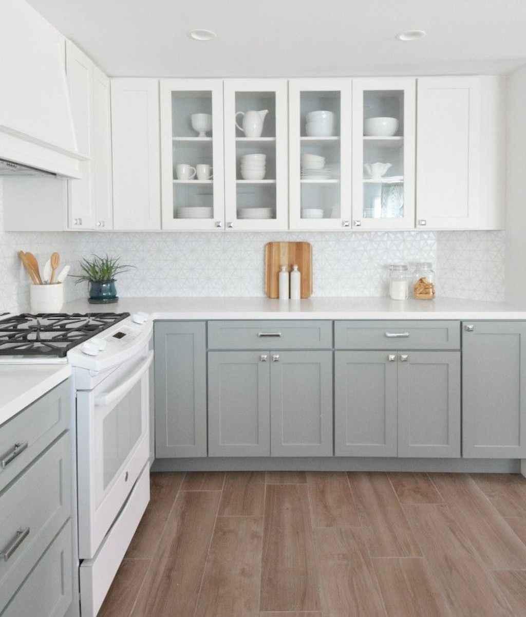 Gorgeous gray kitchen cabinet makeover ideas (33)