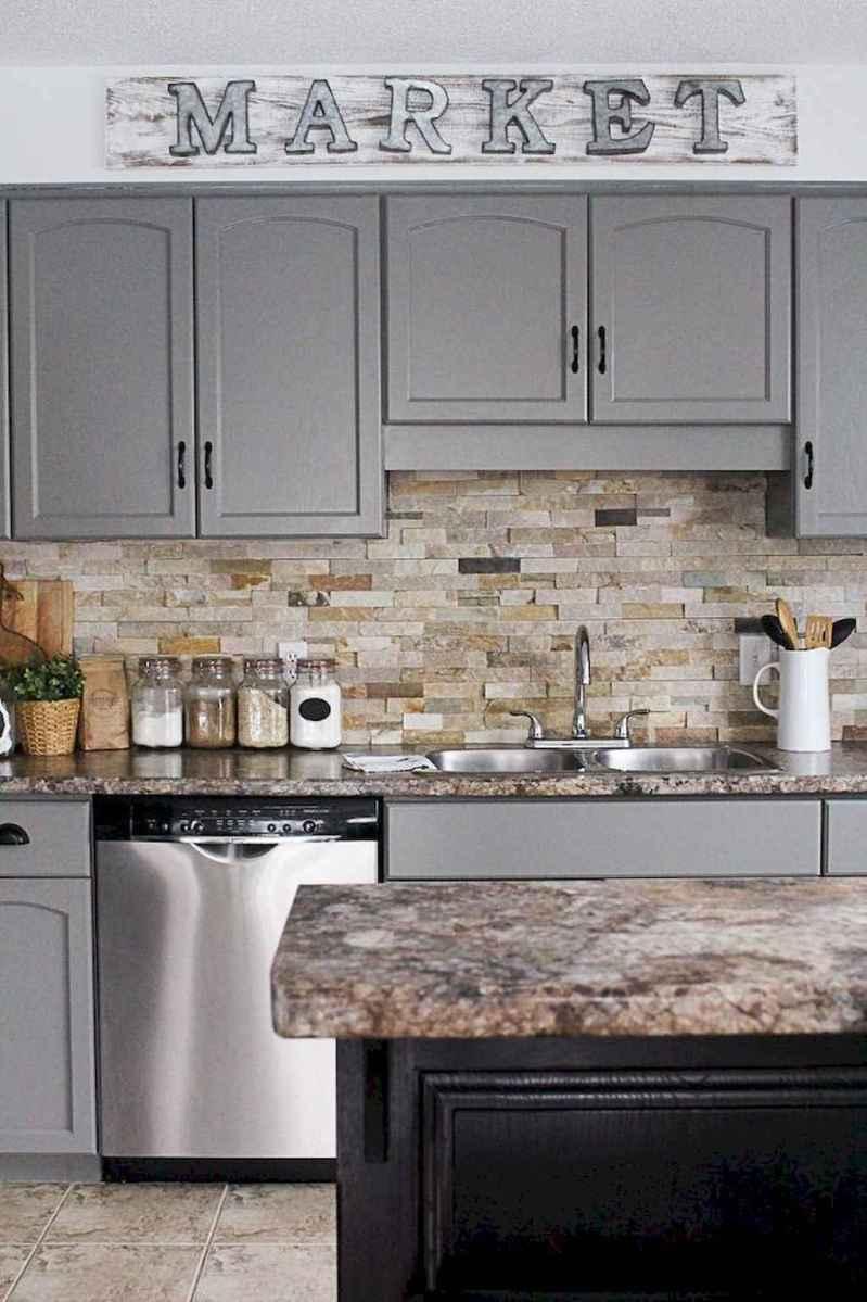 Gorgeous gray kitchen cabinet makeover ideas (36 ...