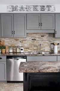 Gorgeous gray kitchen cabinet makeover ideas (36)