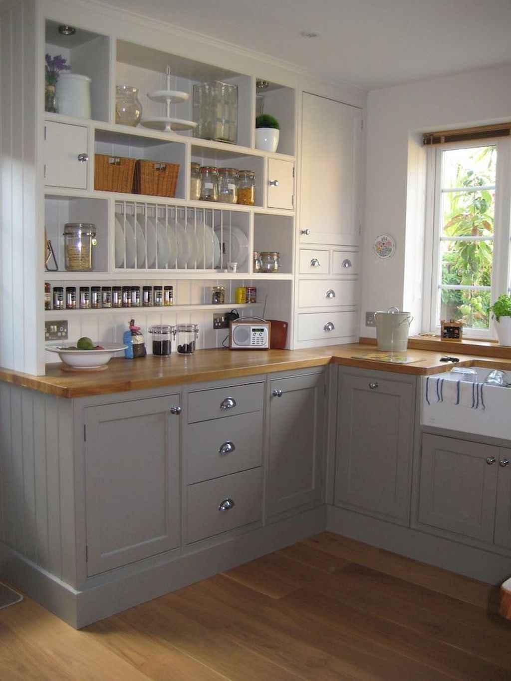 Gorgeous gray kitchen cabinet makeover ideas (37)