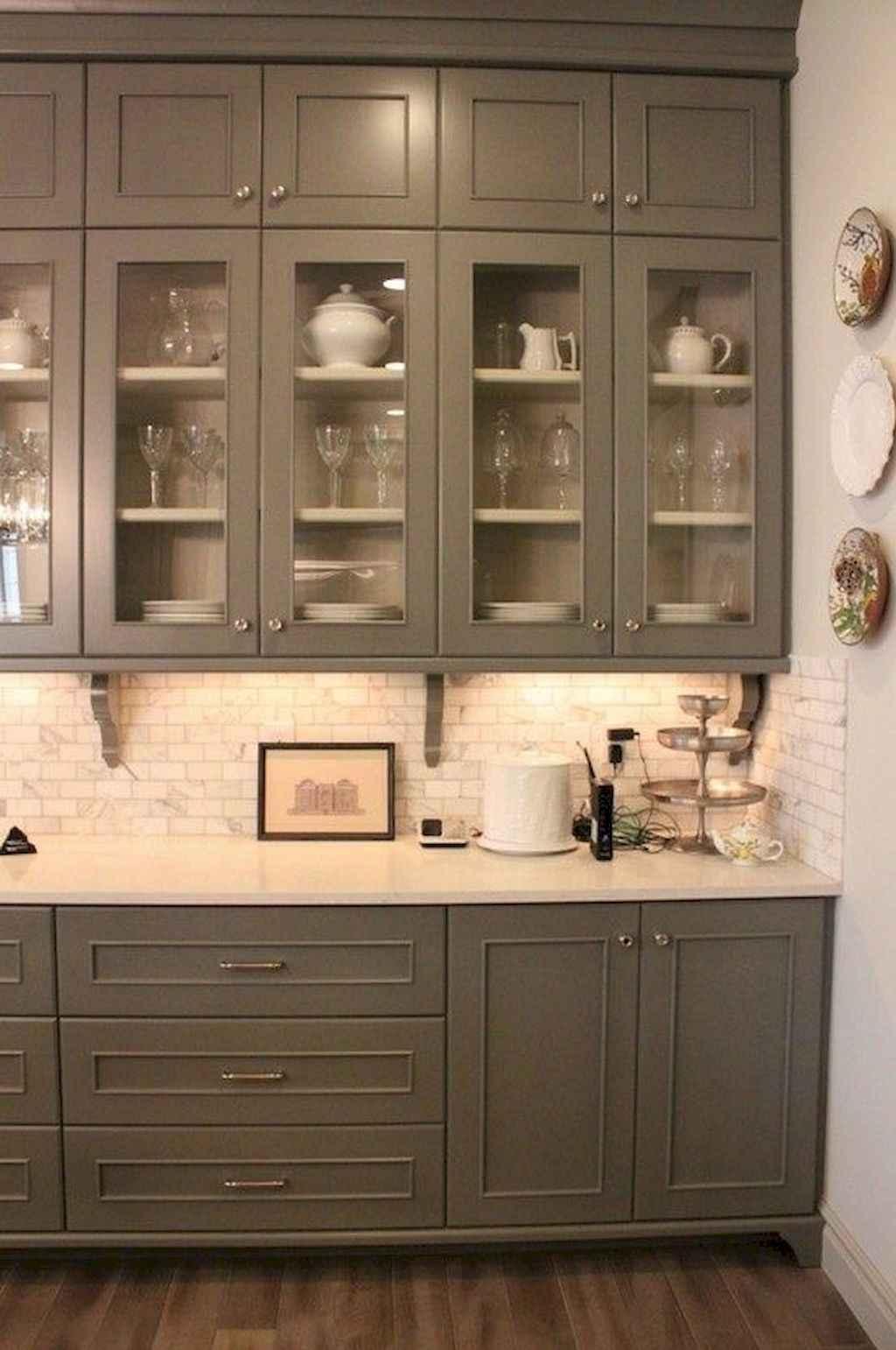 Gorgeous gray kitchen cabinet makeover ideas (40)