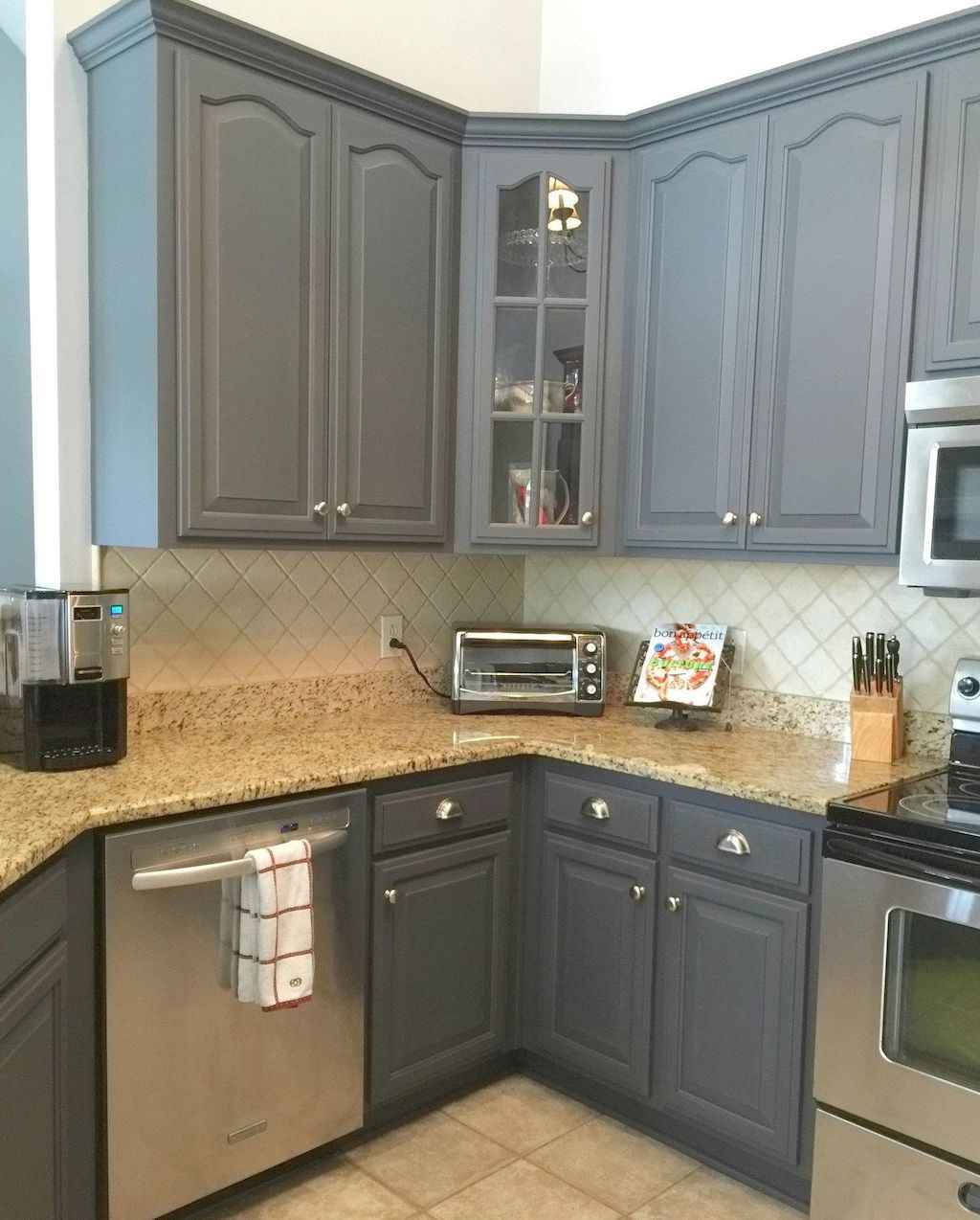 Gorgeous gray kitchen cabinet makeover ideas (41)