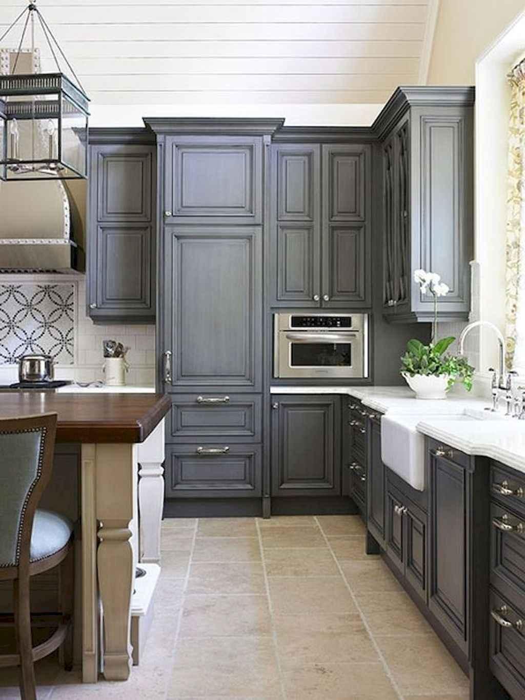 Gorgeous gray kitchen cabinet makeover ideas (42)