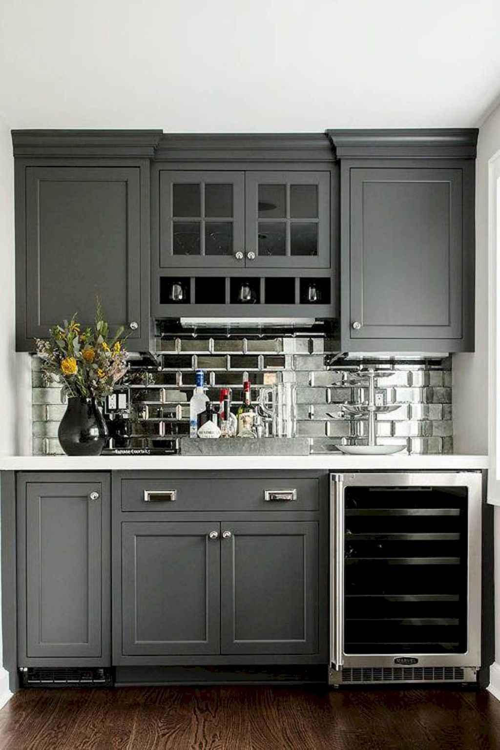 Gorgeous gray kitchen cabinet makeover ideas (48)
