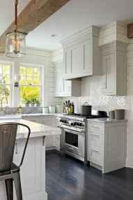 Gorgeous gray kitchen cabinet makeover ideas (50)