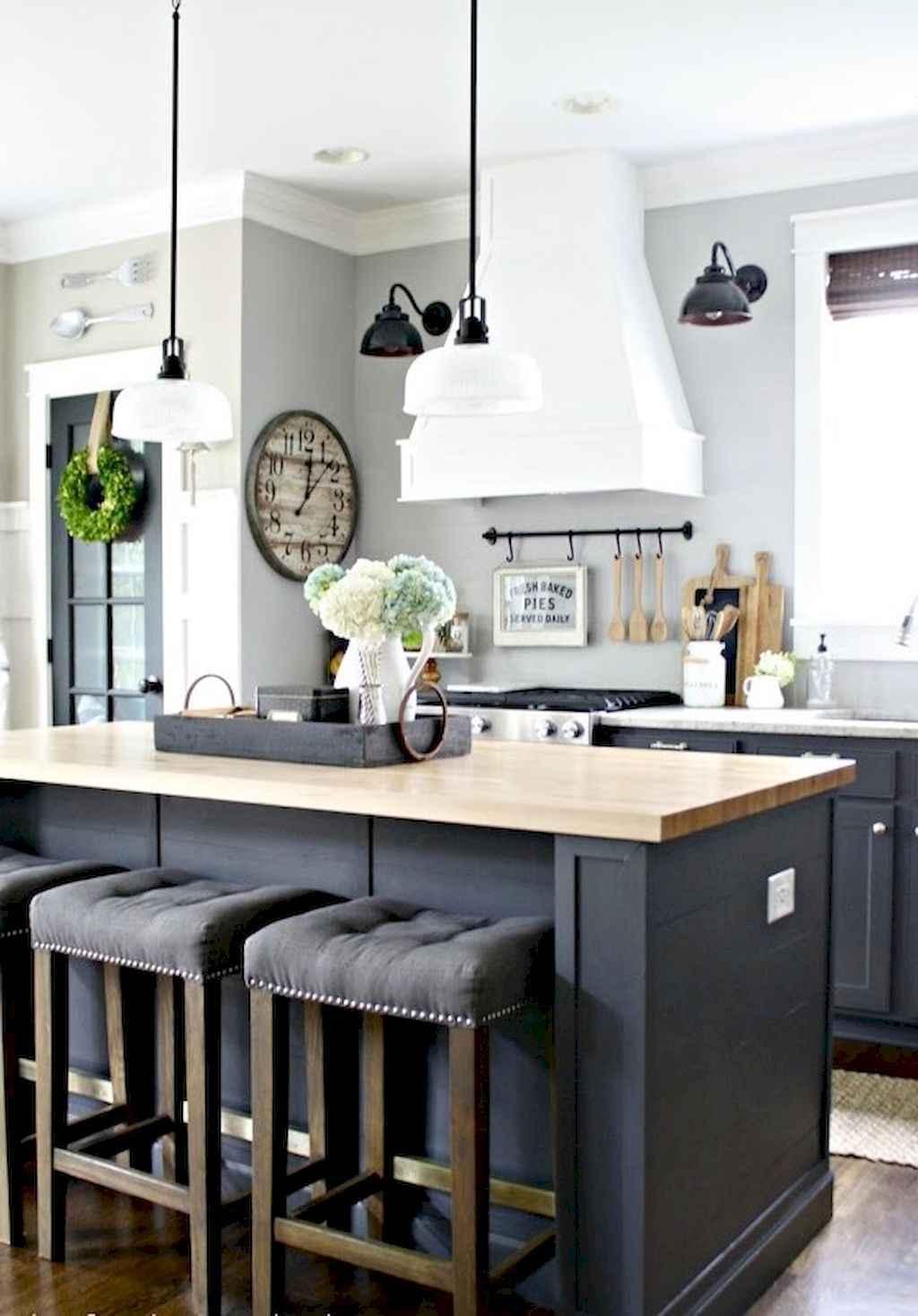 Gorgeous gray kitchen cabinet makeover ideas (56)