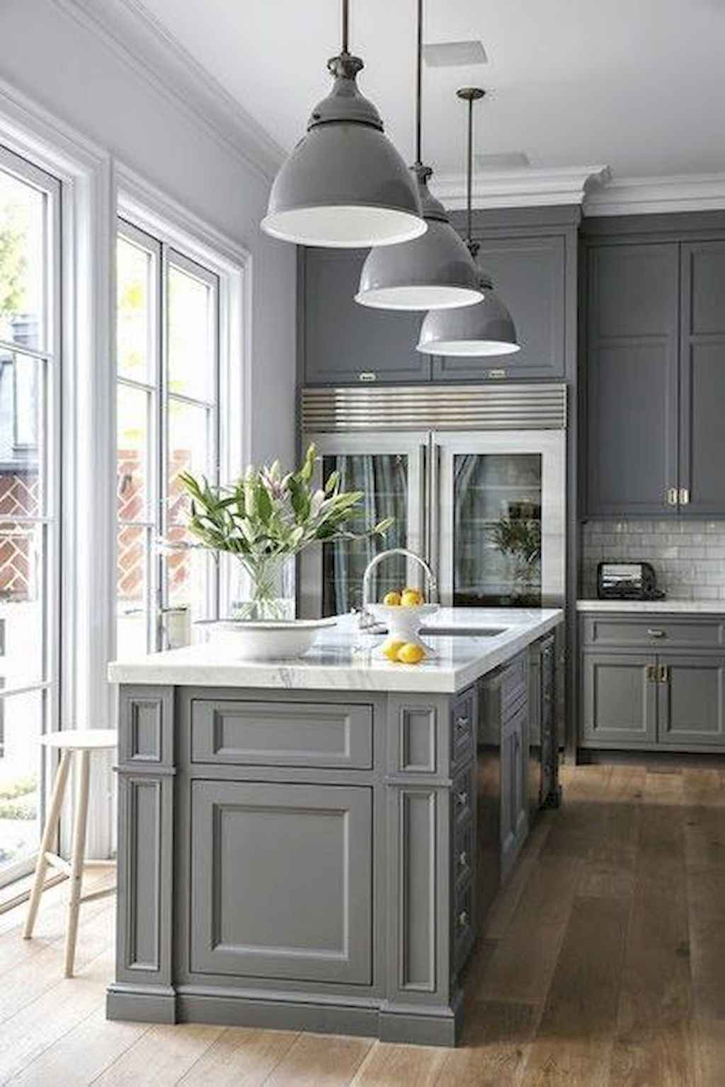 Gorgeous gray kitchen cabinet makeover ideas (62)