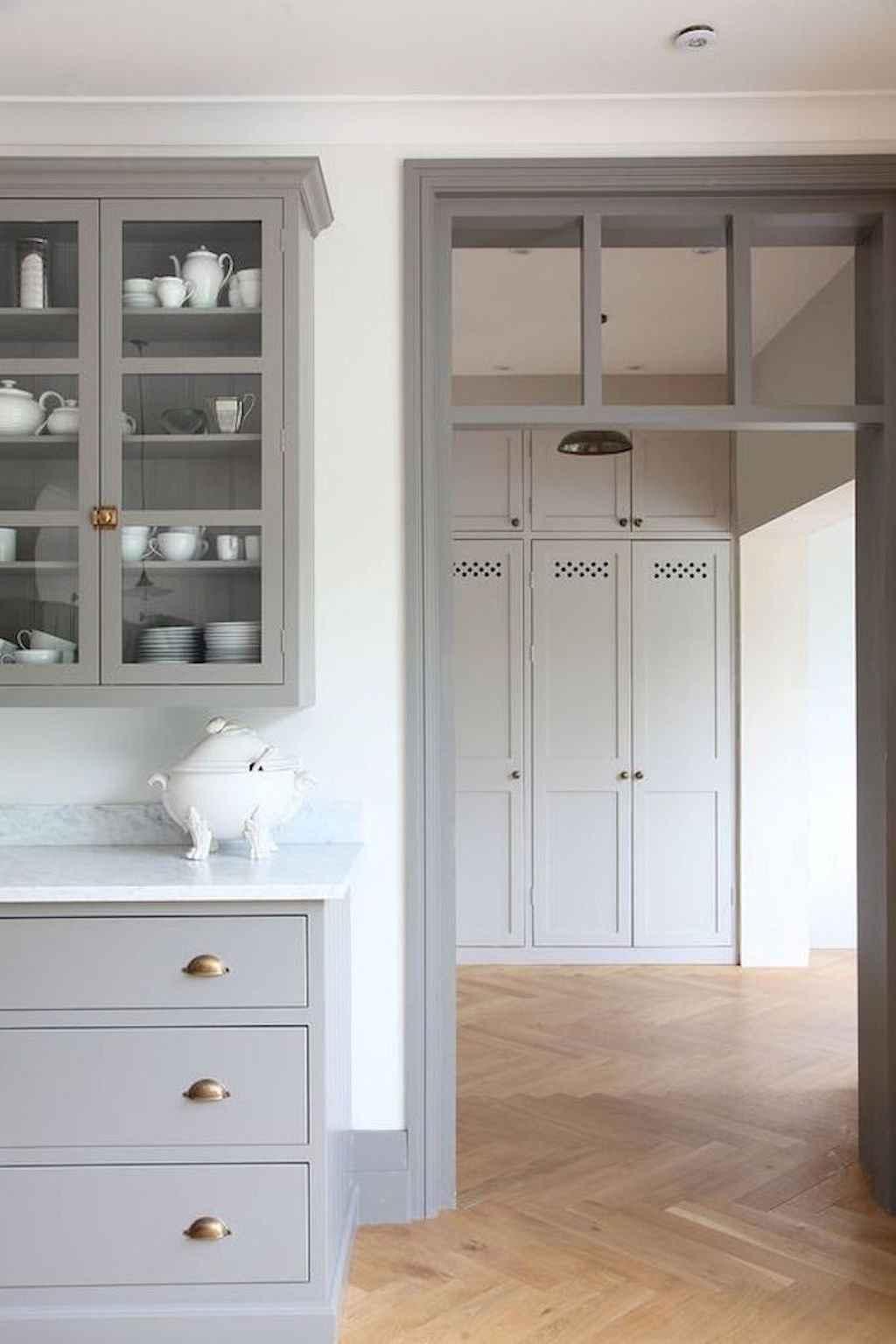 Gorgeous gray kitchen cabinet makeover ideas (75)