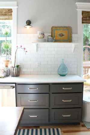 Gorgeous gray kitchen cabinet makeover ideas (76)