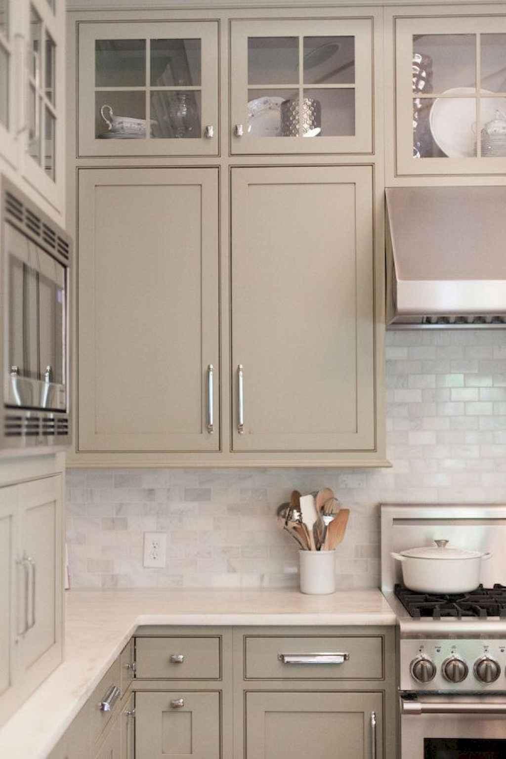 Gorgeous gray kitchen cabinet makeover ideas (78)