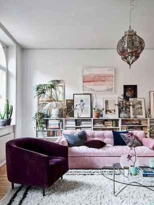 Modern bohemian living room decor ideas (30)