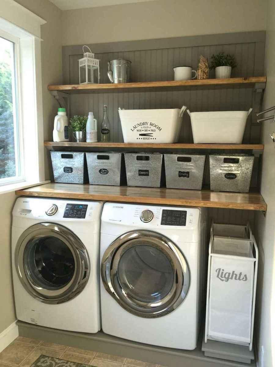 Modern farmhouse laundry room ideas (19)