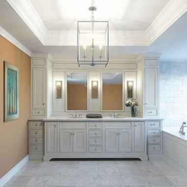 Rustic farmhouse master bathroom remodel ideas (13)