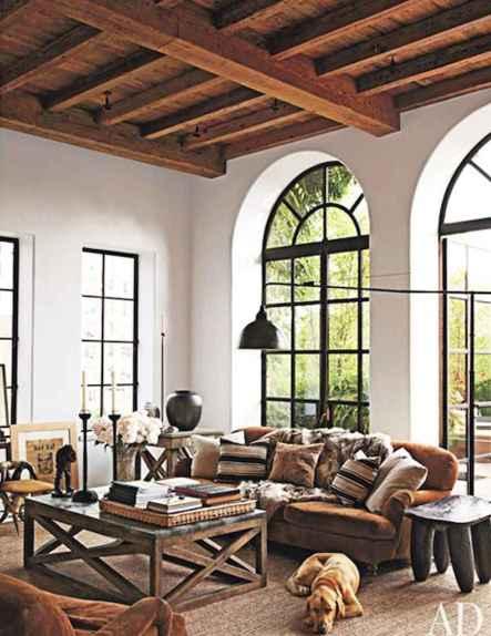 Rustic modern farmhouse living room decor ideas (11)
