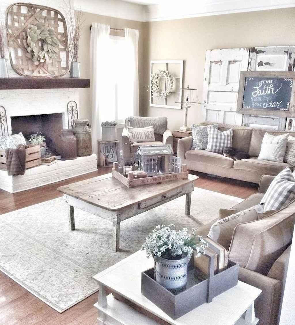 Rustic modern farmhouse living room decor ideas (26 ...