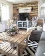 Rustic modern farmhouse living room decor ideas (27)