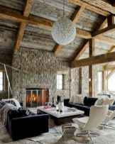 Rustic modern farmhouse living room decor ideas (51)
