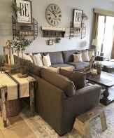 Rustic modern farmhouse living room decor ideas (80)