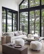 Rustic modern farmhouse living room decor ideas (88)
