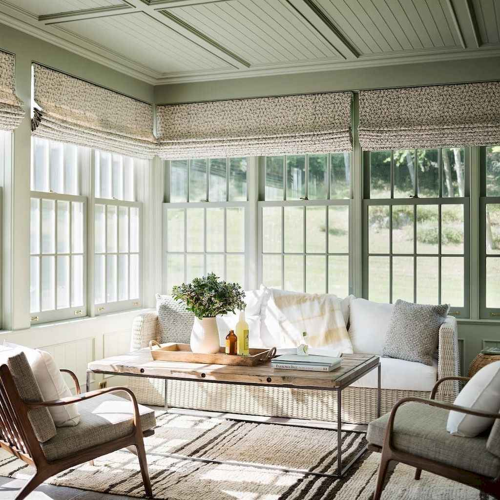 34 cozy farmhouse sunroom decor ideas