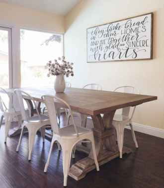 38 best farmhouse dining room makeover decor ideas
