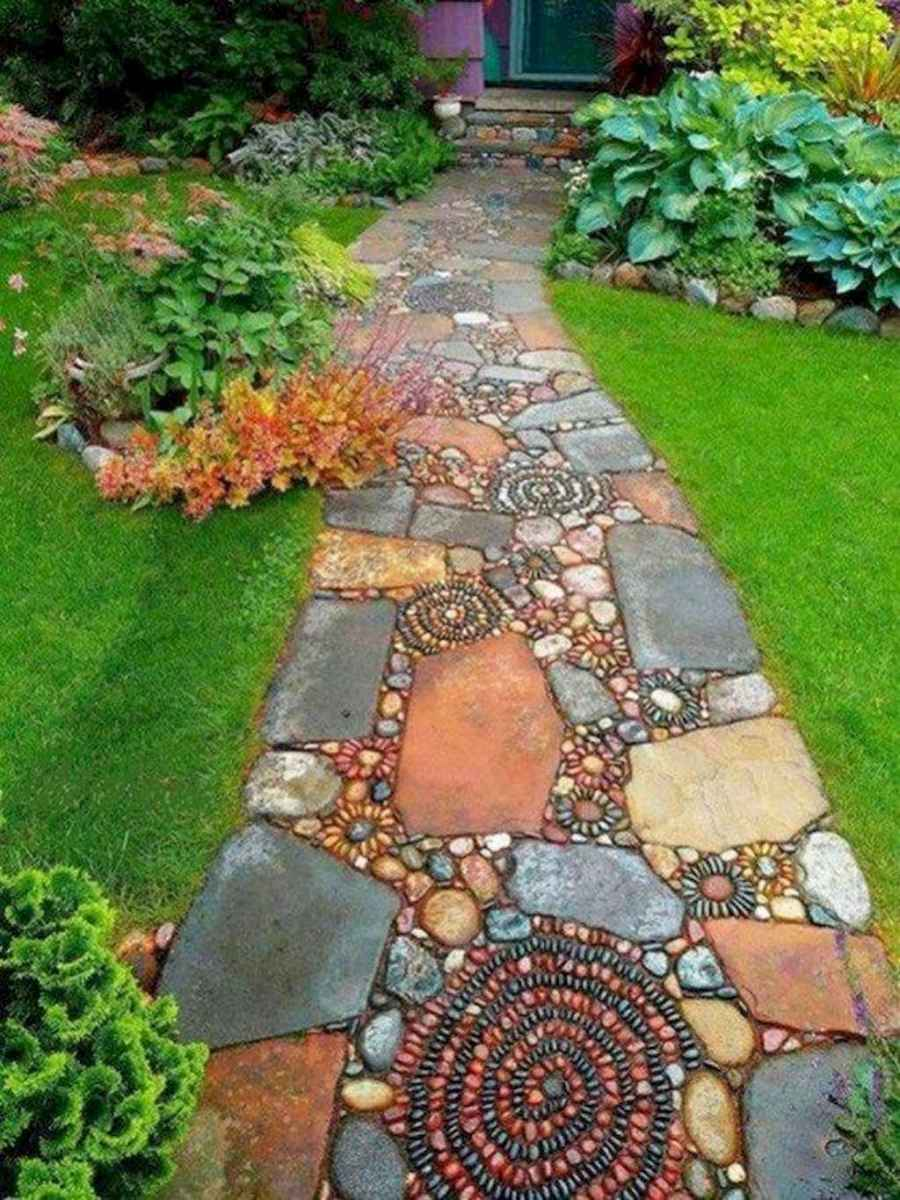 40 simple and beautiful front yard pathways landscaping ideas
