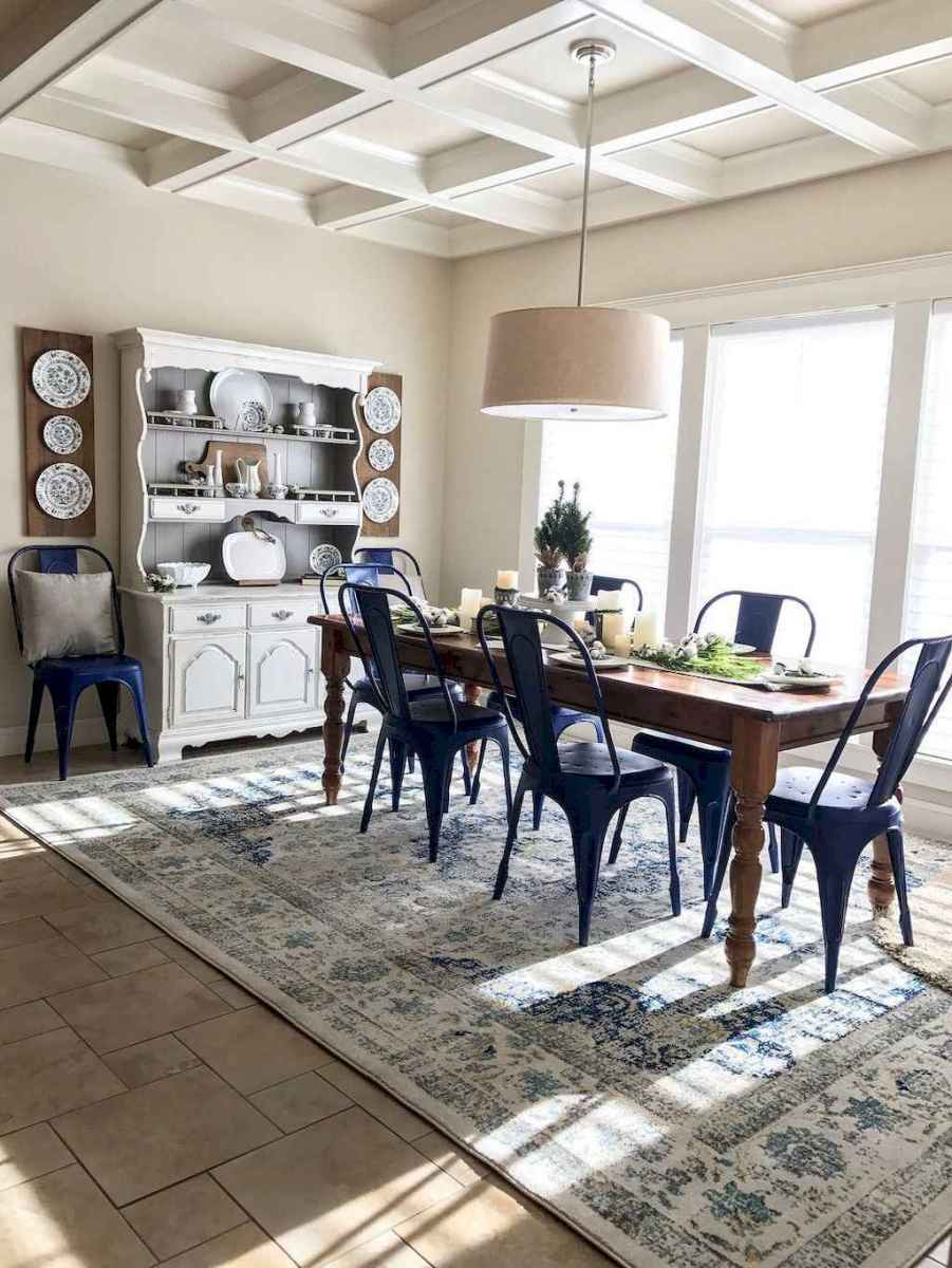 41 best farmhouse dining room makeover decor ideas