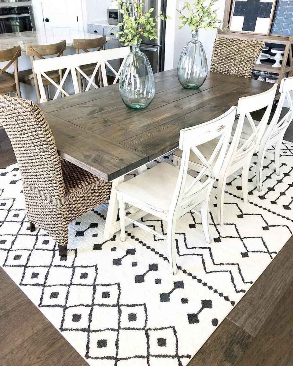 47 best farmhouse dining room makeover decor ideas