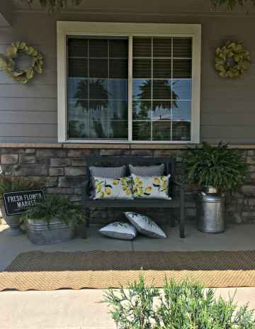 47 modern farmhouse front porch decorating ideas
