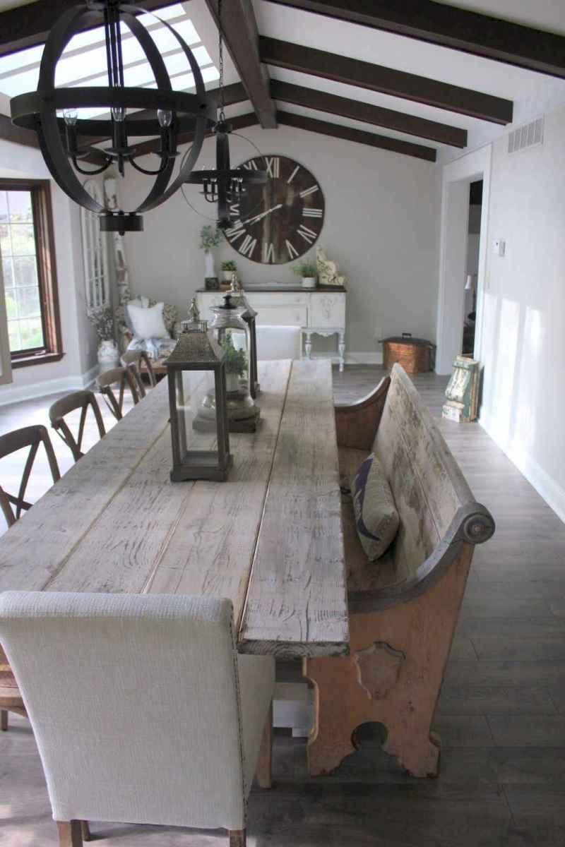 51 best farmhouse dining room makeover decor ideas