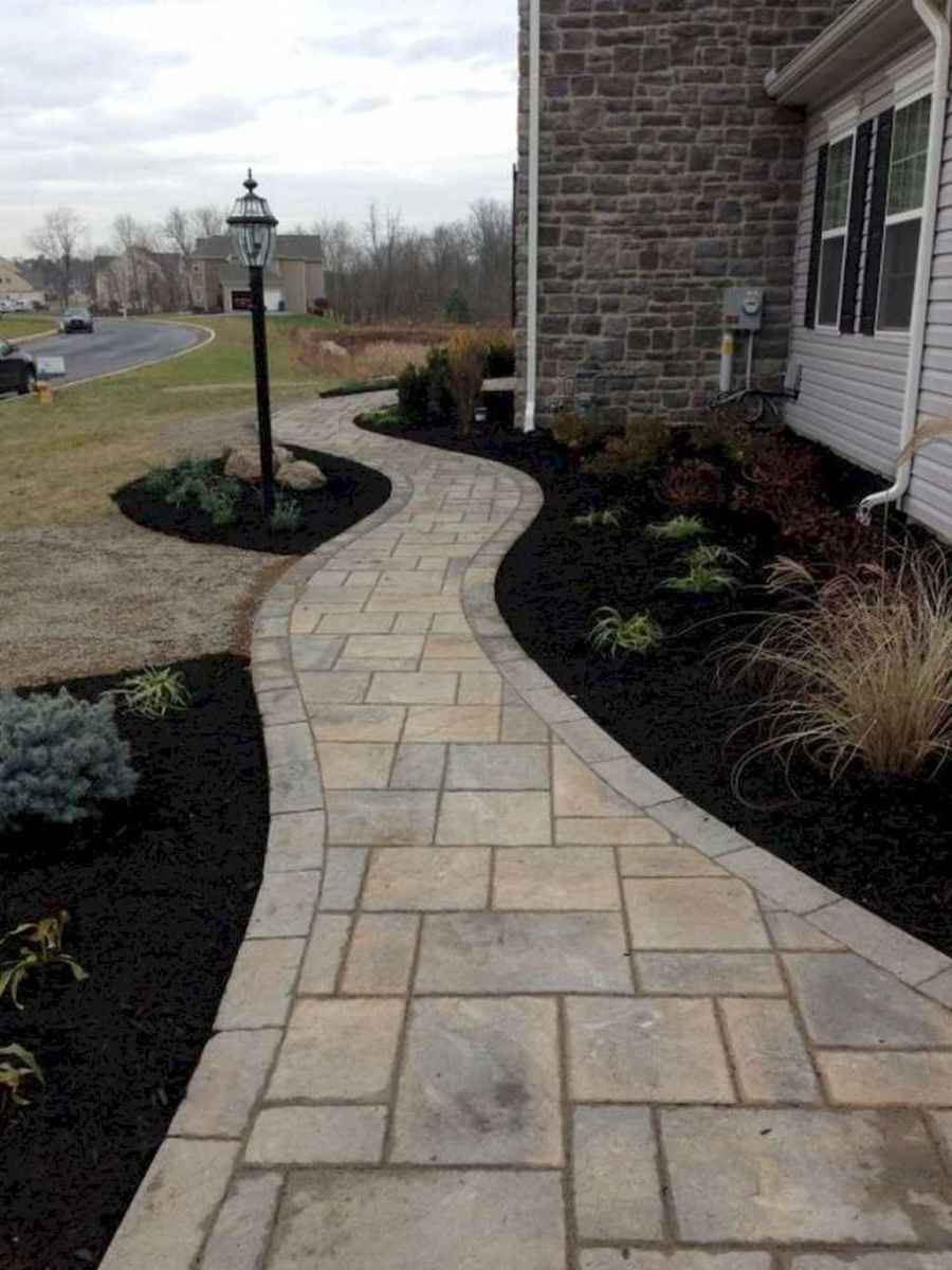 53 simple and beautiful front yard pathways landscaping ideas