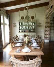 70 best farmhouse dining room makeover decor ideas