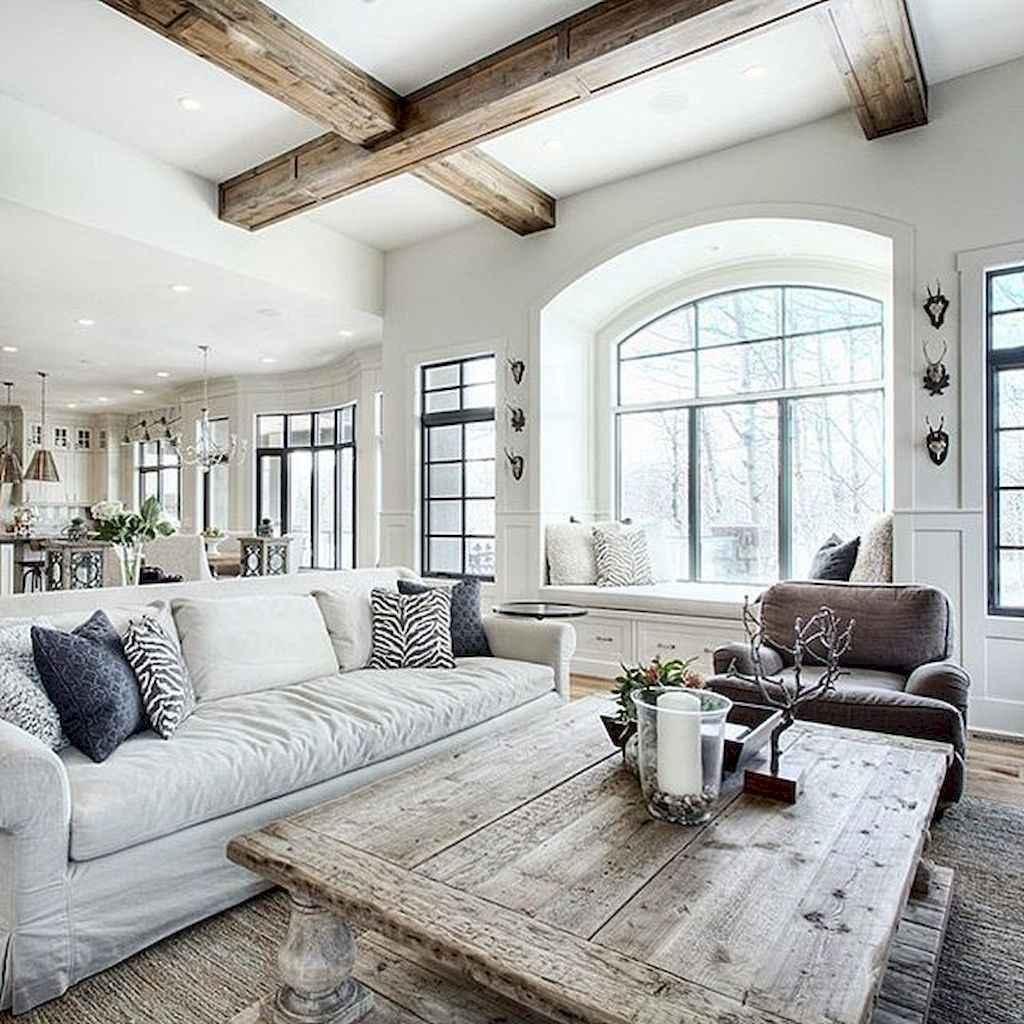 81 cozy modern farmhouse living room decor ideas