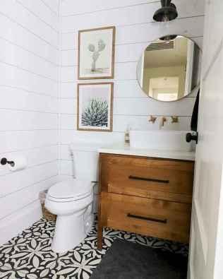 45 cool farmhouse bathroom remodel decor ideas