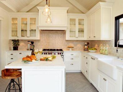 17 white kitchen cabinet decor for farmhouse style ideas