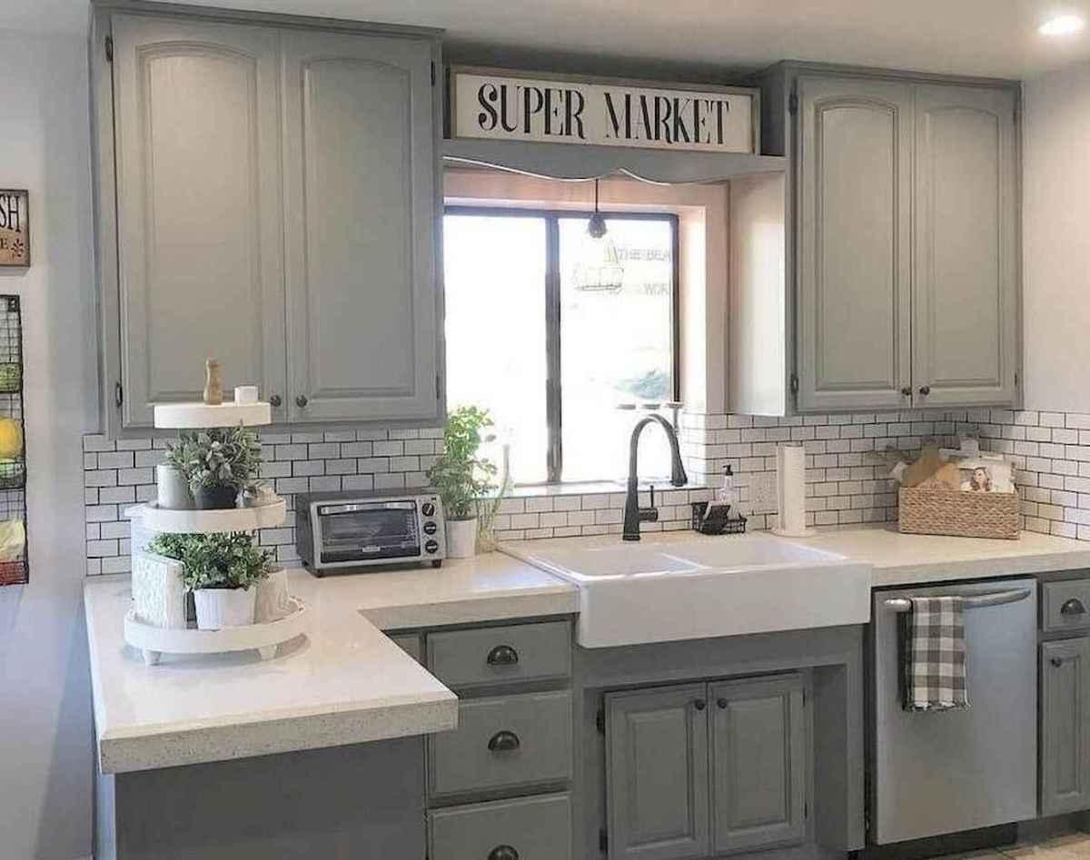 19 elegant gray kitchen cabinet makeover for farmhouse decor ideas