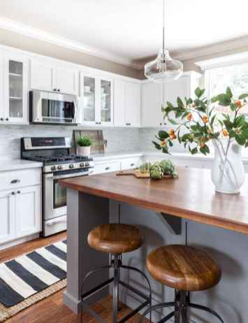 34 elegant gray kitchen cabinet makeover for farmhouse decor ideas