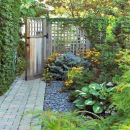 62 incredible side house garden landscaping ideas with rocks