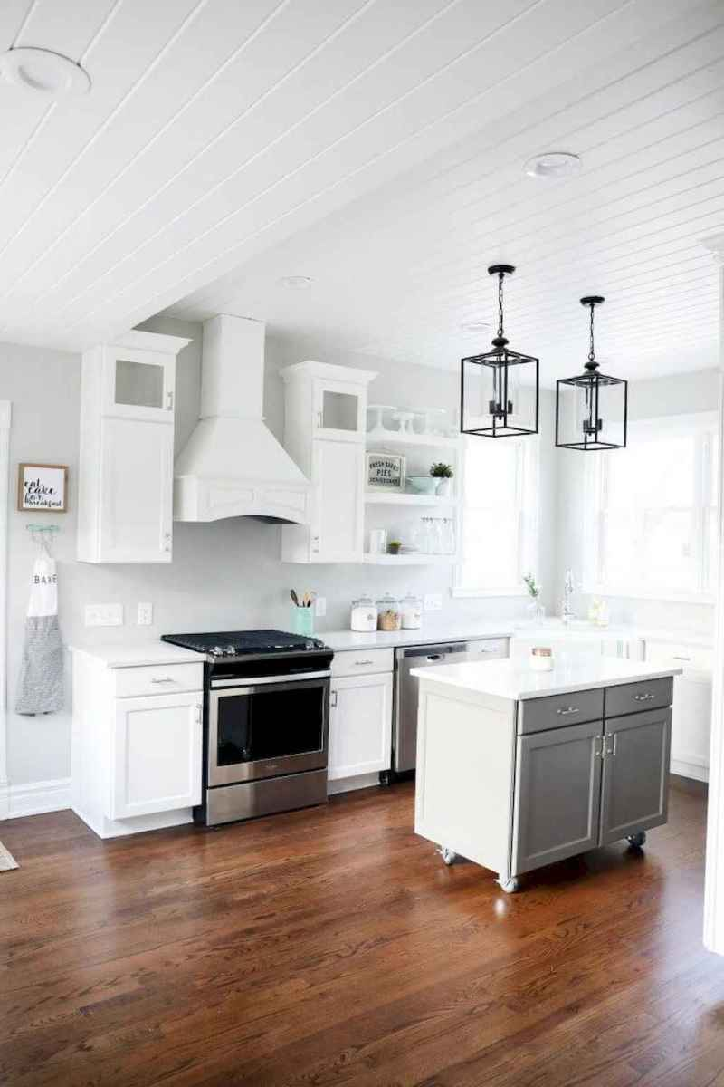 63 elegant gray kitchen cabinet makeover for farmhouse decor ideas