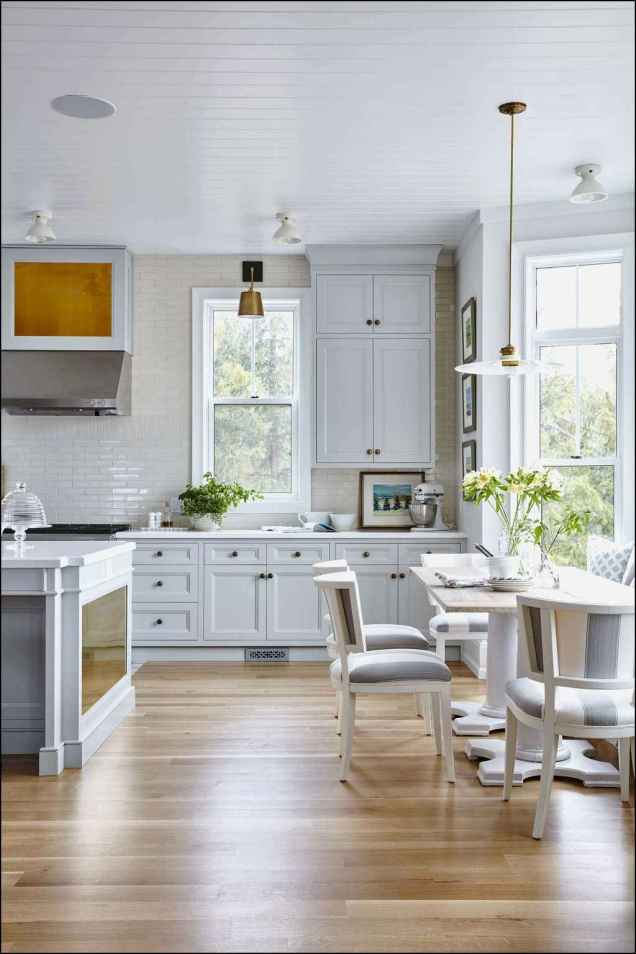 76 elegant gray kitchen cabinet makeover for farmhouse decor ideas