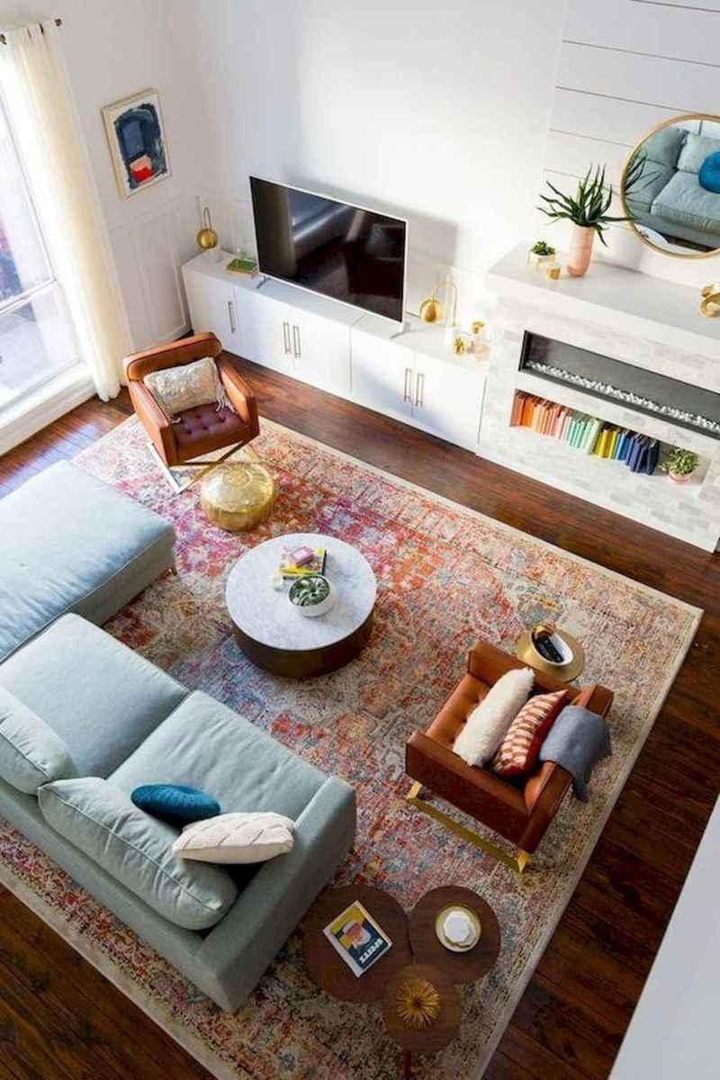 01 cozy farmhouse living room rug decor ideas