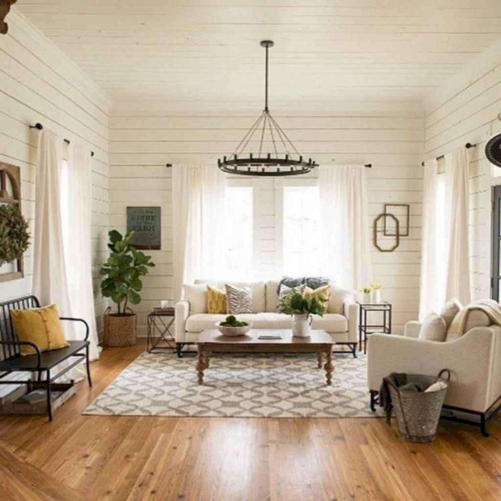 13 cozy farmhouse living room rug decor ideas